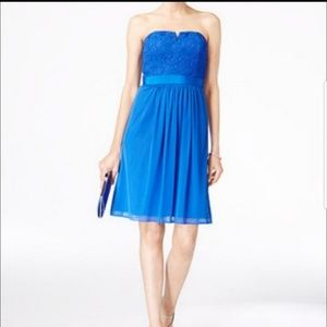 Adrianna Papell Dresses - Adriana Papell blue strapless dress sz 16